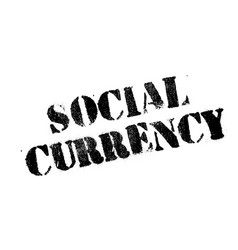 social currency rubber stamp vector image vector image