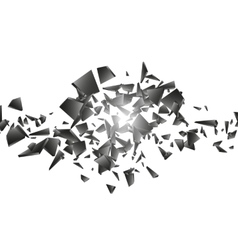 Black explosion on white background vector image vector image