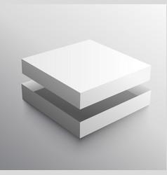 empty box realistic design mock-up vector image