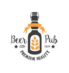 original logo template for pub colorful emblem vector image