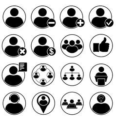 set of human icons vector image