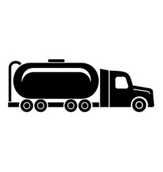 truck oil icon simple black style vector image
