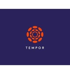 Abstract hubs flower logo design template vector