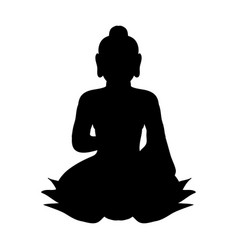 buddha silhouette traditional religion vector image