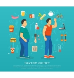 Health and obesity vector
