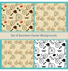 Hipster Colorful Seamless Patterns vector image vector image