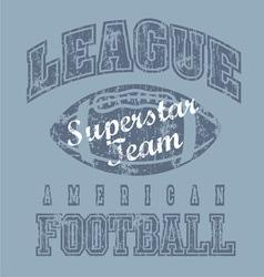 league american football vector image vector image
