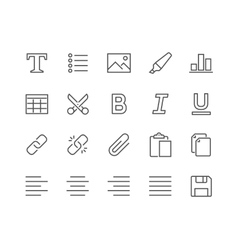 Line Text Editing Icons vector image
