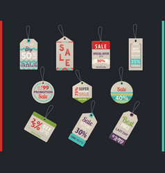 tag sales or shop store labels with prices vector image