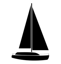 yacht the black color icon vector image vector image