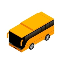 Yellow bus in isometric projection Flat style vector image vector image