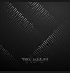 abstract curve zig zag lines in black background vector image vector image