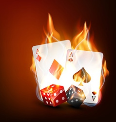 playing casino cards vector image