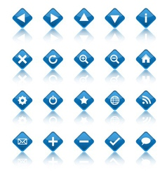 Web navigation icons isolaten on white background vector image vector image