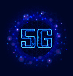 5g new wireless internet wifi connection digital vector image