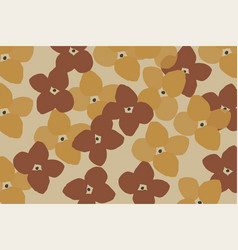 abstract floral pattern design for autumn social vector image