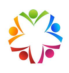 autumn leafs logo vector image