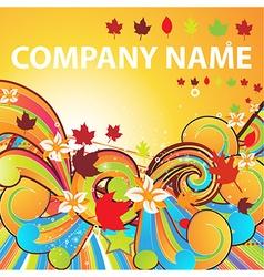 Autumn Wallpaper for Business Design vector