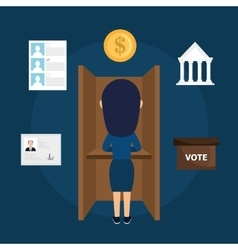 Avatar woman voting elections vector