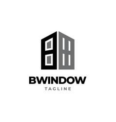 B window logo design vector