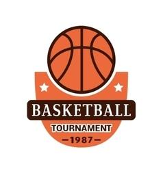 Basketball championship badge vector