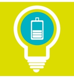 battery isolated icon design vector image