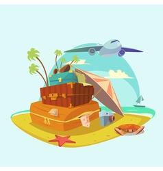 Beach Resort Concept vector