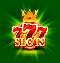 big win slots 777 banner casino background vector image