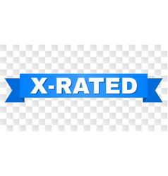 Blue tape with x-rated title vector