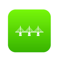 bridge icon digital green vector image