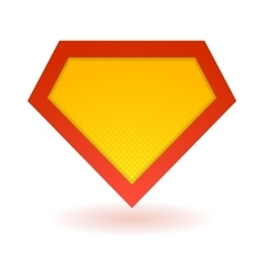 Bright superhero symbol vector image