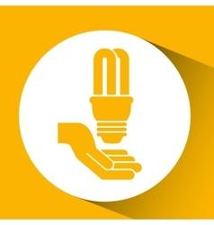 bulb energy light think creative vector image