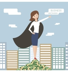 Business woman Superhero business lady vector image