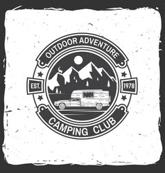 camping club vector image