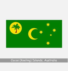 Cocos keeling islands australia flag vector