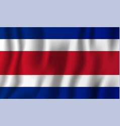 costa rica realistic waving flag national vector image