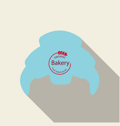 Croissant icon in flat style isolated vector