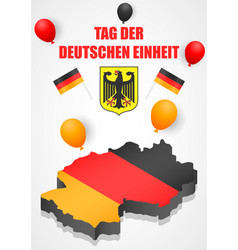 Deutschen einheit concept background isometric vector