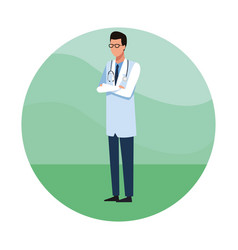 doctor avatar cartoon job worker vector image