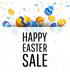 easter sale banner with place for text vector image