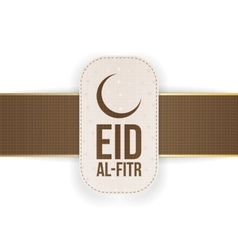 Eid al-Fitr realistic beautiful Tag with Ribbon vector