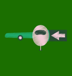 Flat icon in shading style passengers boarding vector