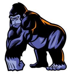 Gorilla mascot vector