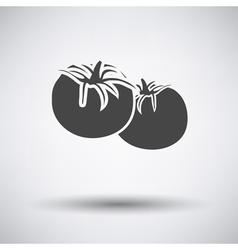 Gray Single vegetables vector image