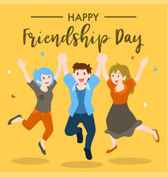 Happy friendship day design vector