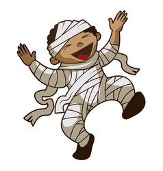 happy kid mummy icon cartoon style vector image