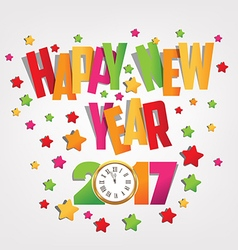 Happy new year 2017 colorful background vector