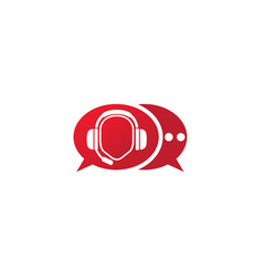 headphones with microphone and heart beats vector image