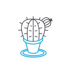 indoor cactus linear icon concept indoor cactus vector image