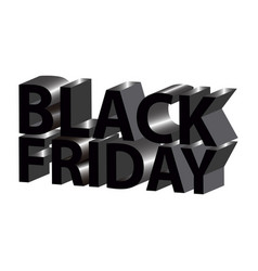 isolated black friday vector image